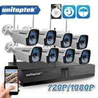 4CH 8CH 1080P inalámbrico NVR Kit sistema de cámara de seguridad del hogar 1.0MP 2MP HD Video vigilancia CCTV sistema cámara exterior wi-fi NVR