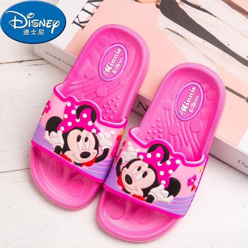 2018 Disney summer childrens home indoor baby Mickey non-slip boys girls soft bottom Minnie in large childrens slipp 24-35
