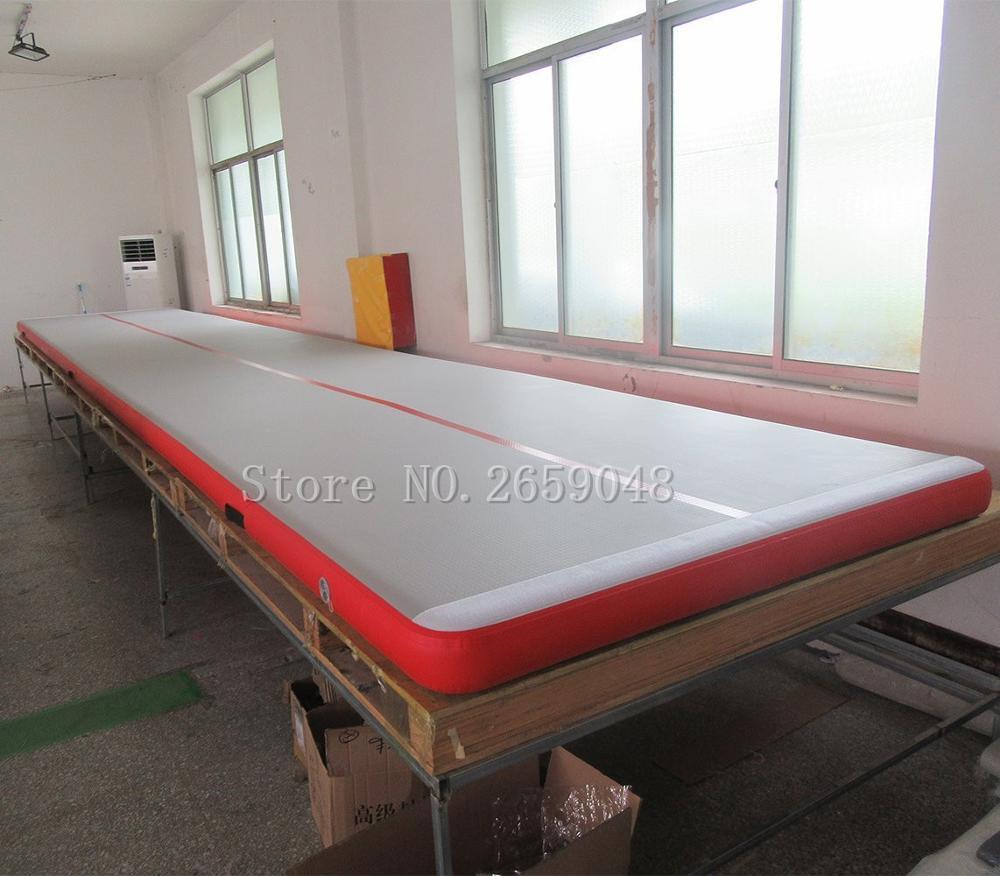 Livraison gratuite tapis gonflable de gymnastique Airtrack tapis de culbuteur 4 m tapis d'air de voie de dégringolade pour l'entraînement de gymnastique piste d'air avec une pompe