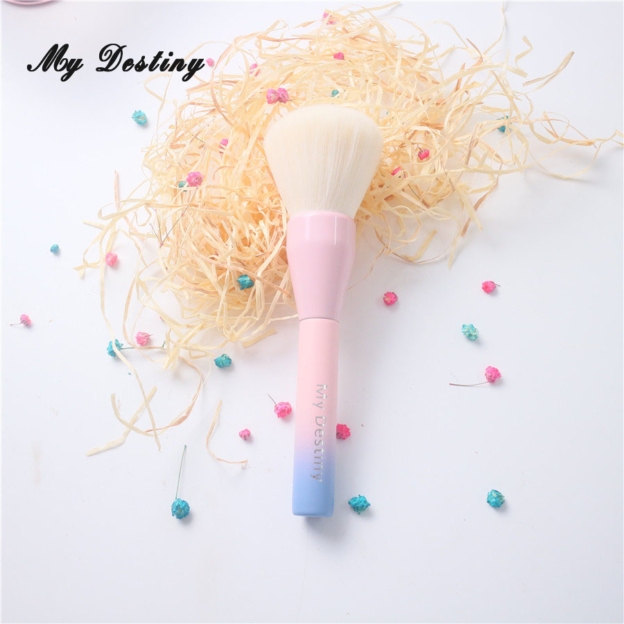 MY DESTINY Large Ombre Color Powder Brush Professional Make Up Makeup Brushes Pincel Pinceis Maquiagem Maquillaje Pinceaux P01 1pc professional makeup brush flawless blush powder pinceis brush rose gold metal large kabuki make up brush gub