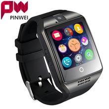 "PINWEI Fashion Men Women Smart Watch For Android IOS Support TF Card 32GB Sim Bluetooth Smartwatch 1.54"" HD OGS Wrist Bracelet"