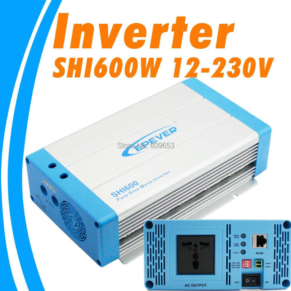 цена на 600W EPEVER SHI600W-12 12V Pure Sine Wave Solar Inverter 12Vdc to 220Vac off grid inverter Australia European DC to AC SHI600W