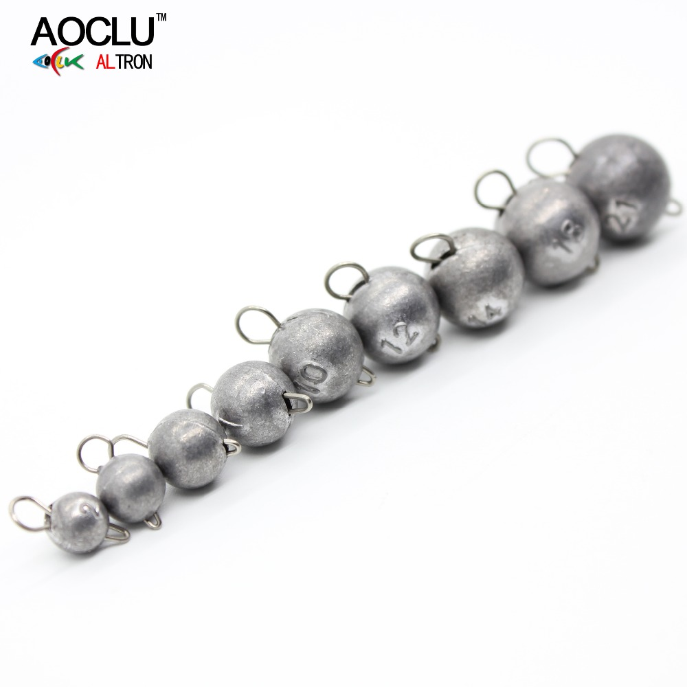 AOCLU Bared No painting jig head lead sinker weights shots with lock pin 10pcs/lot from 2g to 21g for soft lure jigging aoclu bared no painting jig head lead sinker weights shots with lock pin 10pcs lot from 2g to 21g for soft lure jigging