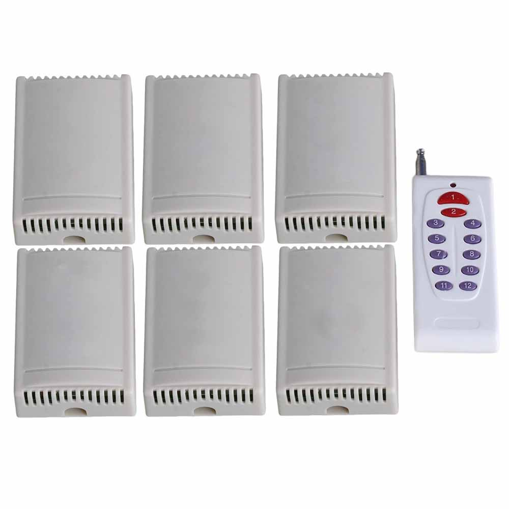 Self-lock Inching Remote Control Switch 220V 2CH 433MHZ 12 Red ButtonsSelf-lock Inching Remote Control Switch 220V 2CH 433MHZ 12 Red Buttons