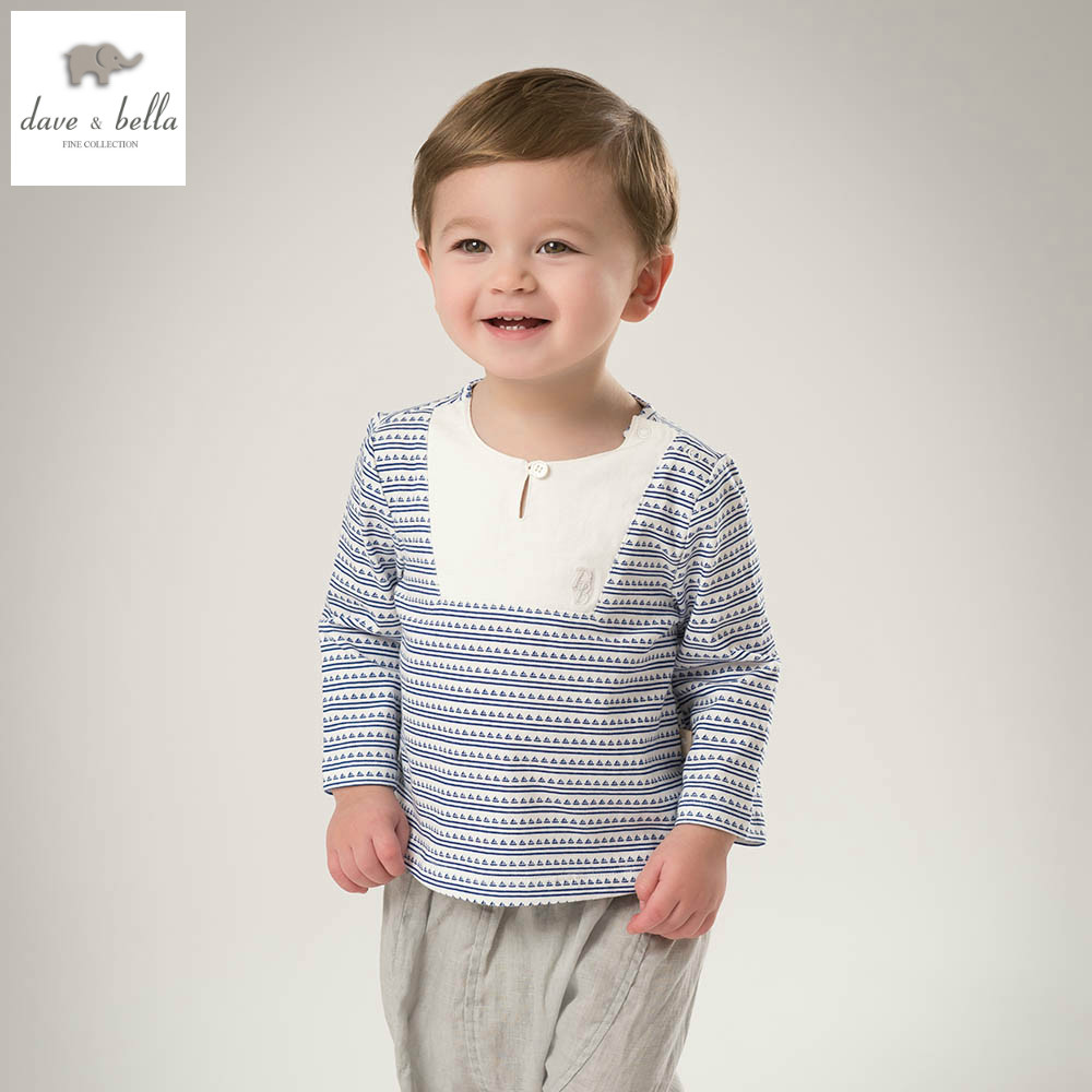 DB5105 dave bella spring baby boy cotton sailing striped t-shirt infant clothes toddle t shirt boys top boys  t shirt baby tee free shipping spring autumn boys t shirt 5pcs lot high quality baby boy t shirt