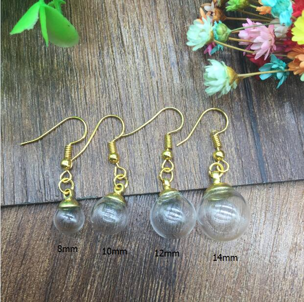4ef6558d1 20sets(10pairs )8/10/12/14mm empty round ball handmade glass orb ...