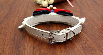 ethin-new-dog-pet-puppy-collar-white-lace-bibs-adjustable-leather-pet-necklace-supplies-for-small-cats-chihuahua-teddy-s-m-size