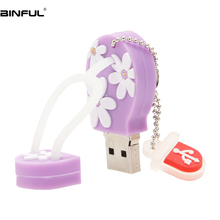Classic Pen Drive 128GB Usb Flash 32GB Cute Women Cartoon Flip-Flops Pendrive 64GB 16GB 8GB 4GB Memory Free Shipping