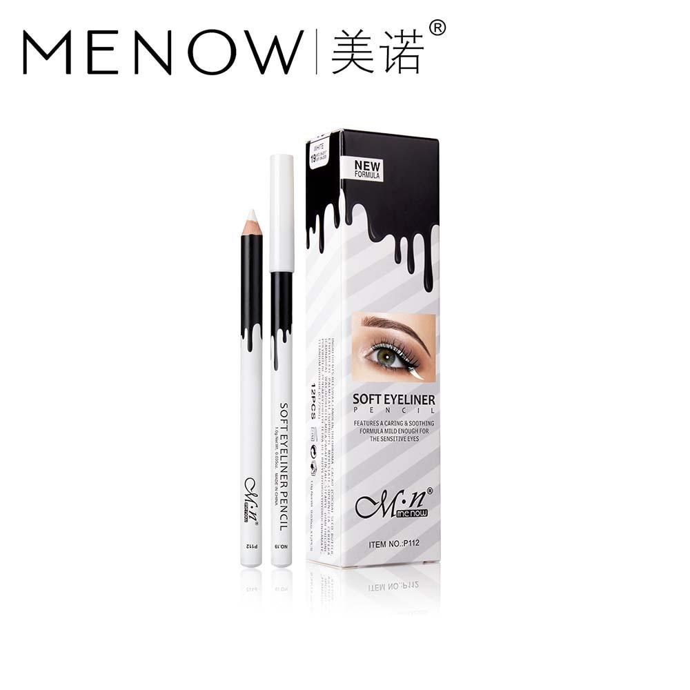 MENOW Brand Makeup Silky Wood Cosmetic White Eyeliner Pencil Silkworm Highlight Pen 12 pcs/set Waterproof P112 MN