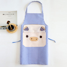 LIRUIKA Creative Cartoon Pig Apron Korean Fashion Anti-fouling Kitchen Hanging Neck Sleeveless