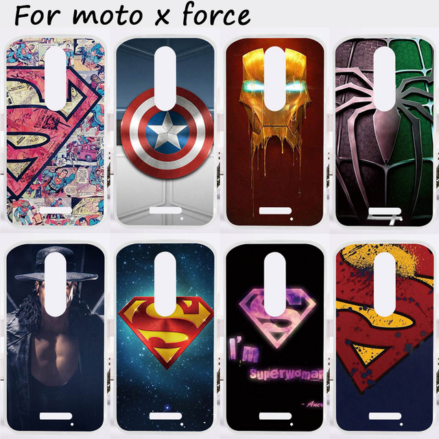 new product a8e35 4adf9 US $2.22 |Ojeleye Mobile Phone Cases For Motorola Moto X Force Cover XT1585  XT1581 Motorola Droid Turbo 2 XT1580 Soft TPU Skin Spider Man-in Fitted ...
