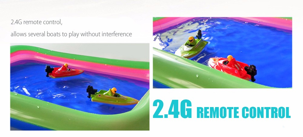 RC Boat Outdoor Children Toys Radio Control RC 2 Channels Waterproof Mini Electric Boats (3)