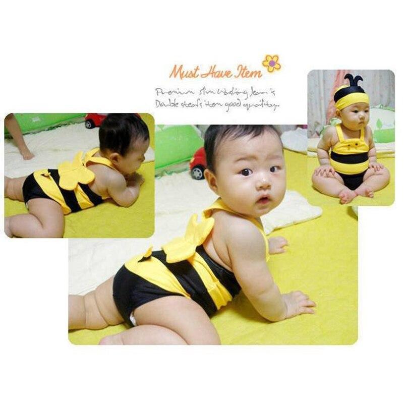 super cute bambini costume da bagno delle ragazze belle ragazze piccole api bambini costume da bagno