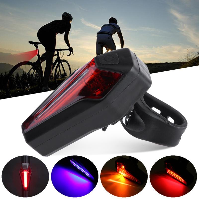 Горный велосипед свет USB Перезаряжаемые УДАРА СВЕТОДИОДНЫЙ Велосипедный Спорт ночь сзади MTB Детская безопасность Предупреждение велосипед...