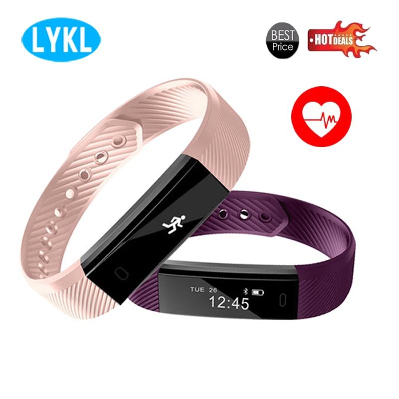 El más nuevo ID115 HR banda inteligente Fitness rastreador pulsera Monitor de ritmo cardíaco podómetro deportivo pulsera impermeable Pk xiaomi mi Band 2