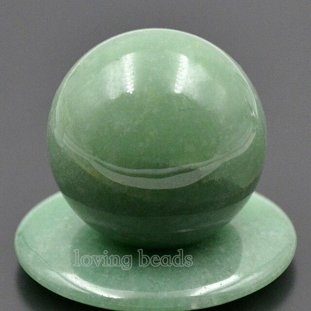 3 قطعة/الحزمة 40 ملليمتر الطبيعية الخضراء افينتورين جوهرة الحجارة جولة الكرة الكريستال الشفاء تدليك روك الأحجار ديكور والمجوهرات
