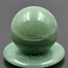 3 unids/pack 40mm verde Natural Aventurina gemas redondas bola de cristal esfera sanadora masaje Rock piedras joyas de decoración