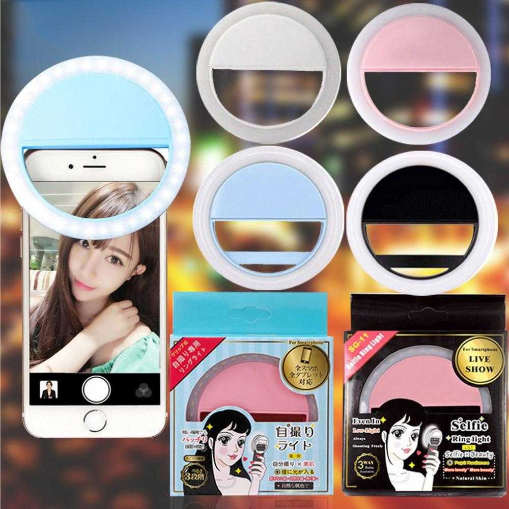 Portable Mini Mobile Phone LED Retardateur Flash Lens Beauty Fill Light For Self-timer Smart Phone Selfie Remplir La Lumière