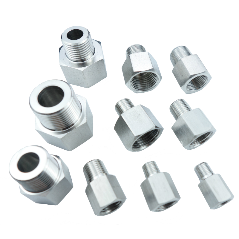 Stainless steel 304 Barstock Pipe Fitting Adapter BSP Thread Pressure Gauge Adapter Connector All Size