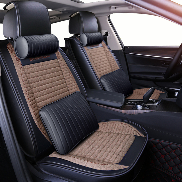 new automobiles flax universal seat covers fit honda crosstour crv cr v fit hrv insight jazz of. Black Bedroom Furniture Sets. Home Design Ideas