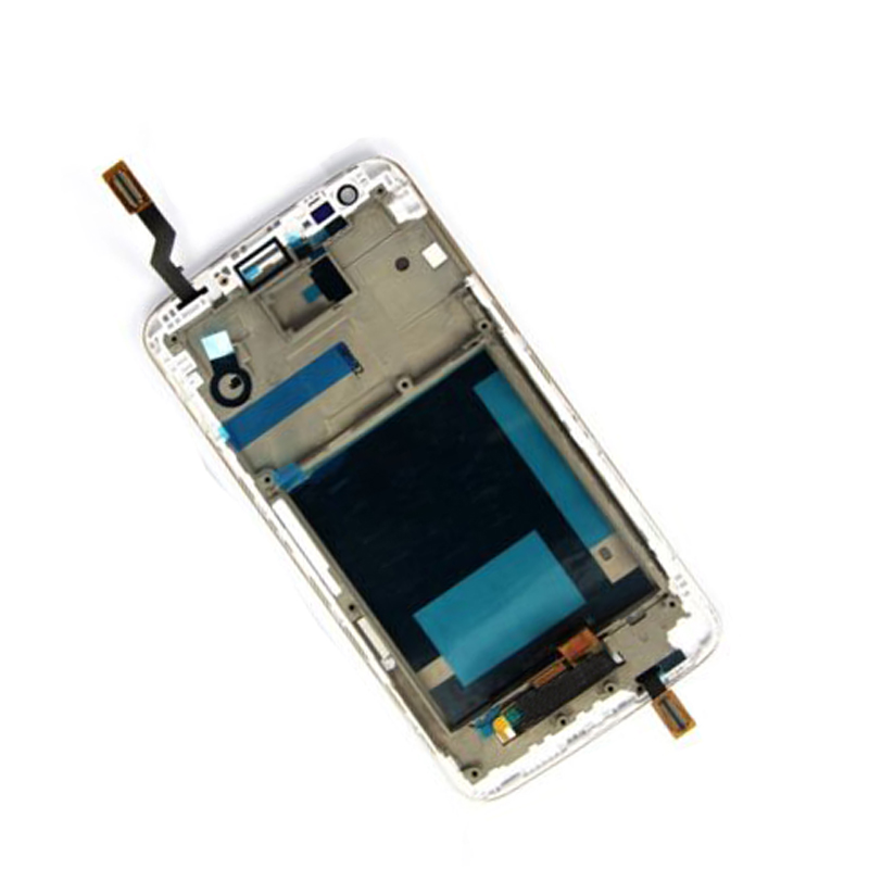 White For LG Optimus G2 D800 D801 D803 Touch Screen Digitizer Sensor Glass + LCD Display Panel Monitor Assembly with Frame Bezel