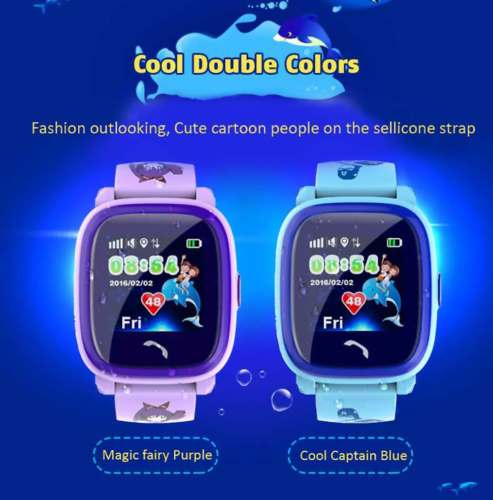 Original DF25 Q100 Children GPS Swim touch phone smart baby watch SOS Call Location Device Tracker Kids Safe Anti-Lost Monitor