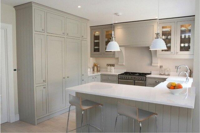 In legno massello mobili da cucina nuovo design bianco