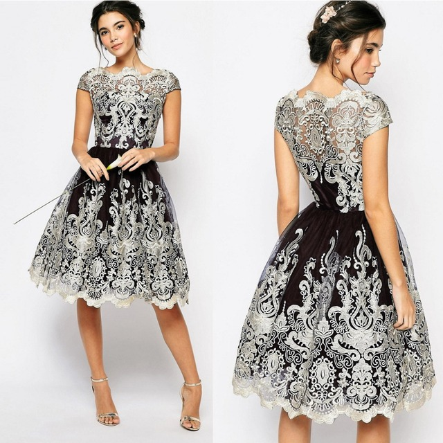 Aliexpress.com : Buy 2018 Amazon hot sales Vintage A Line Embroidery ...