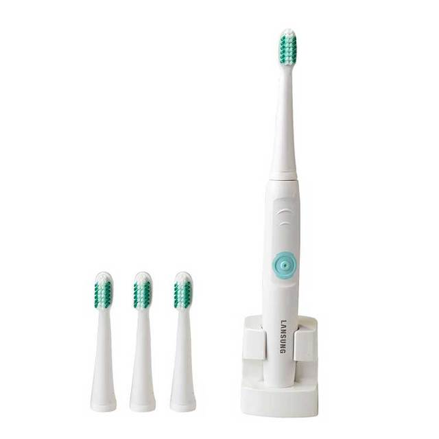 Rechargeable Electric Toothbrush Ultrasonic Sonic  Teeth Brush with 3 extra brush head AC 220V