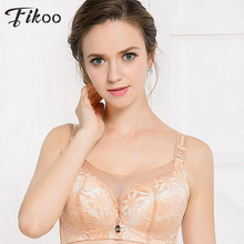 Fikoo Sexy Intimates Anti Emptied Full Cup Big size C D Lace Bra For Women Push up Underwear Bralette