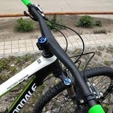 Manillar de fibra de carbono MTB integrado BMX bicicletas de carreras manillar UD manillar de bicicleta mate 720/740/760mm piezas de bicicleta