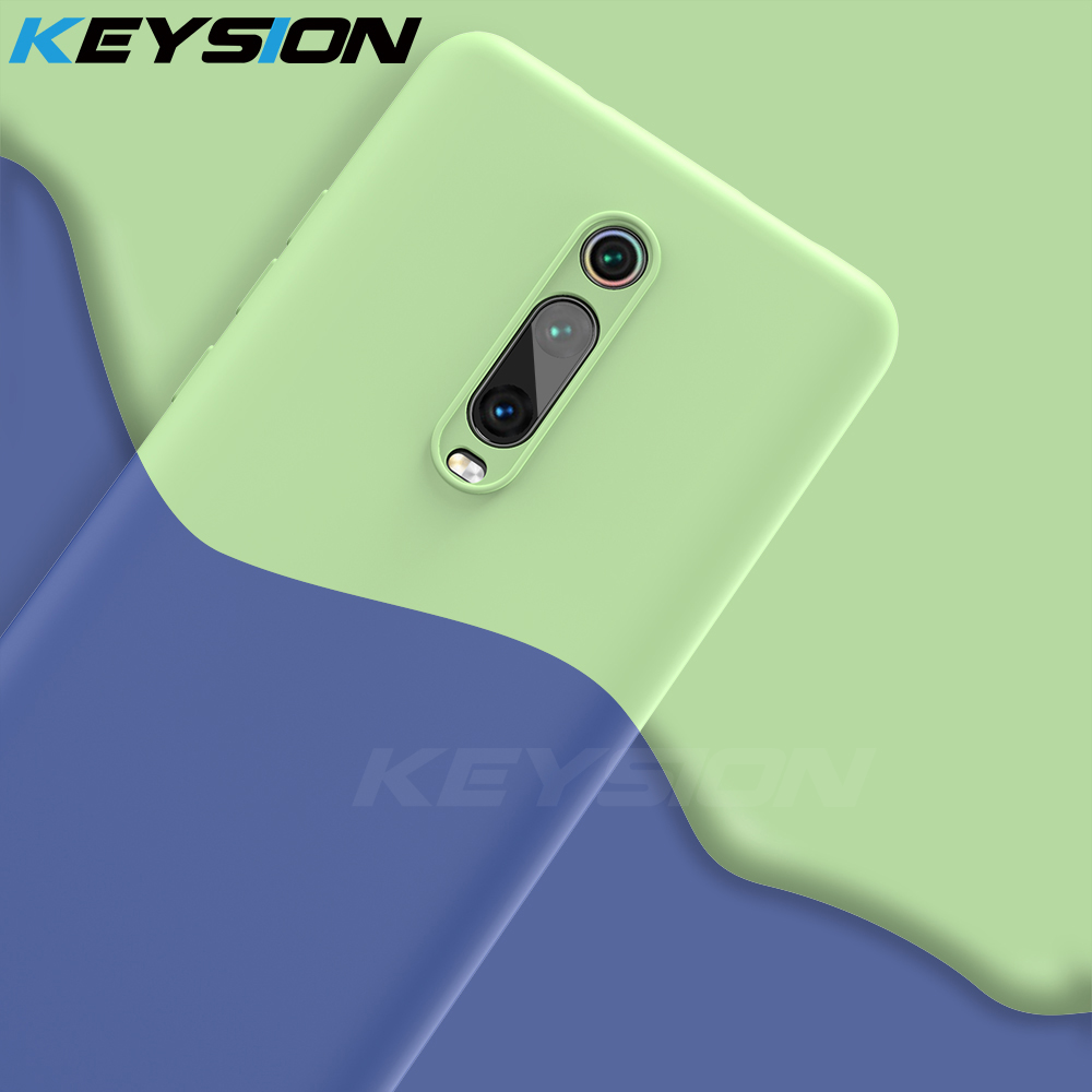 KEYSION Liquid Silicone Case for Xiaomi Mi 9T Pro Redmi K20 Pro Soft TPU Shockproof Coque Phone Cover For Xiaomi Mi 9T Mi 9 9 SE-in Fitted Cases from Cellphones & Telecommunications