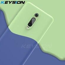 Keysion silicone líquido caso para xiao mi 9 t pro vermelho mi k20 pro tpu macio à prova de choque coque capa do telefone para xiao mi 9 t mi 9 9 se