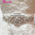Free Shipping Vintage Floral Design Crystal Beaded Bridal Sash For Wedding Dress