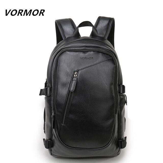 2017 VORMOR Brand waterproof 15.6 inch laptop backpack men leather ...