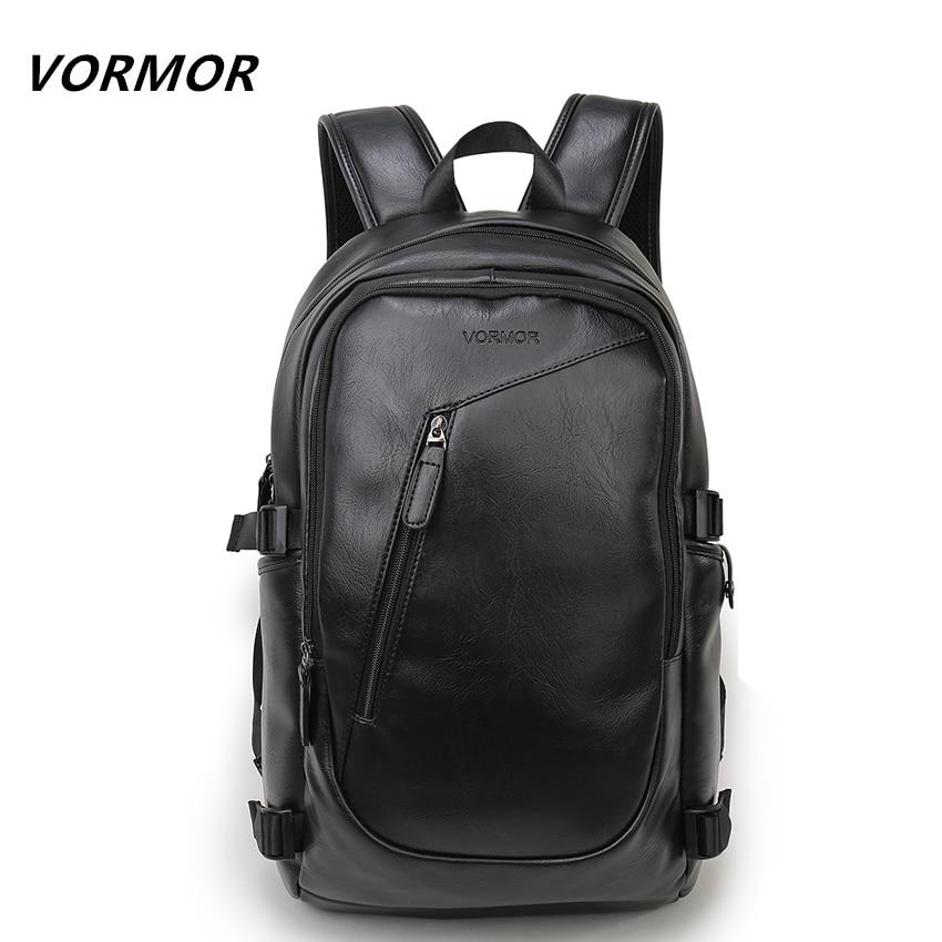 2017 vormor брендовая Водонепроницаемая 15.6 дюймов ноутбук рюкзак Для мужчин кожаные рюкзаки для подростка Для мужчин Повседневное Daypacks Mochila мужской