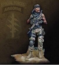 Nieuwe Ongemonteerd 1/25 70mm oude warrior zomer stand 70mm soldaat Resin Kit DIY Speelgoed Unpainted kits
