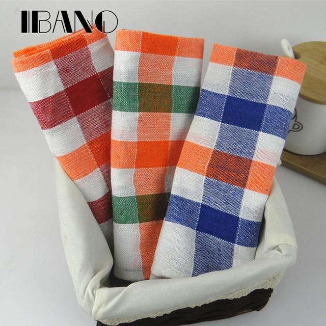 3pcs Set 40x60cm 100 Cotton Plain Stripe Dish Towel Kitchen Cleaning Cloth Tea
