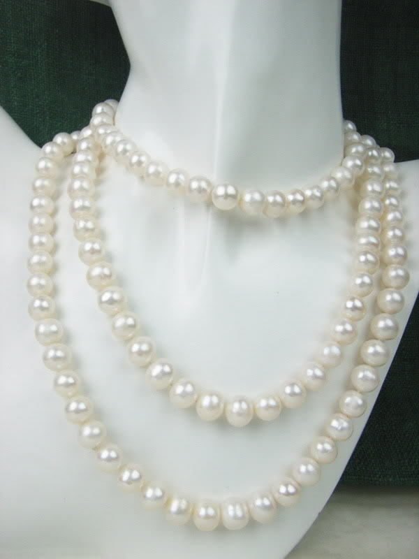 Details about  8-9mm AAA White Freshwater Cultured Round Pearl necklace 62 Details about  8-9mm AAA White Freshwater Cultured Round Pearl necklace 62