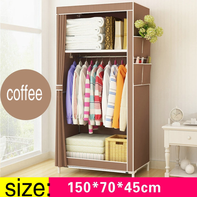 armario portatil simple cloth wardrobe baby storage cabinets folding steel individual small wardrobe - Small Wardrobe