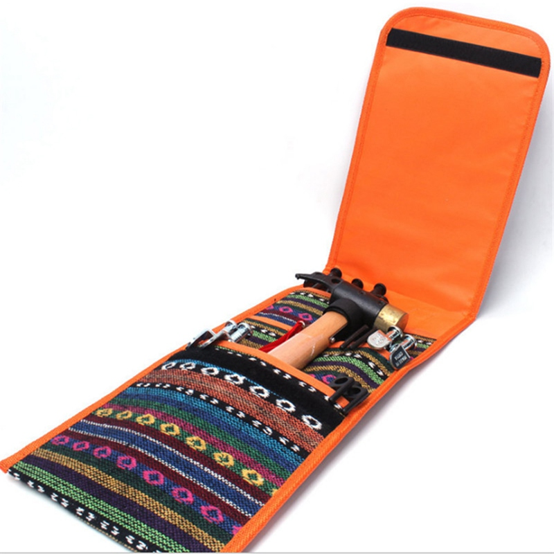 Image 5 - Tent Nail Storage Bag National Style Printed Portable Pouch Organizer with Handle for Hammer Camping Accessories-in Outdoor Tools from Sports & Entertainment