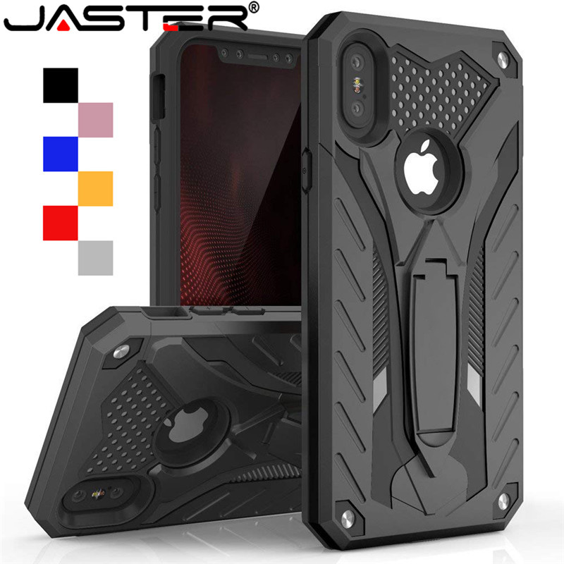 JASTER Shockproof Case For iPhone 6 6s 7 8 Plus Kickstand Military Grade Silicone 11 11pro max X XS XR Max