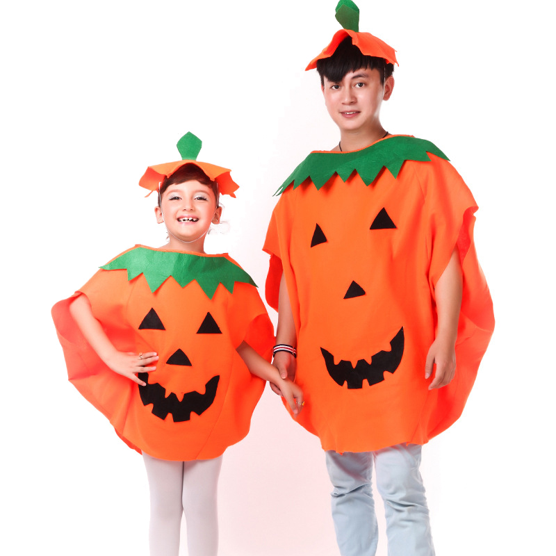 Ainiel Pumpkin Kid Cosplay Costume Lovely Orange Cloak With Hat Child Costumes Halloween Party For Boy And Girl