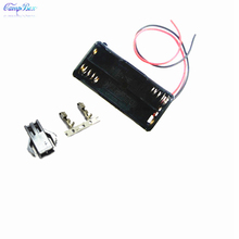 100Pcs 2xAAA Battery Case Holder Socket Wire Junction Boxes With 15cm Wires, SM 2.54 Header and Crimps
