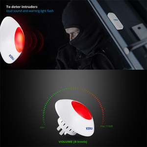 Image 4 - KERUI J009 Indoor Siren 433MHZ High Quality Wireless Flash Horn Red Light 110dB Loud Siren for Home Security Alarm System Kits