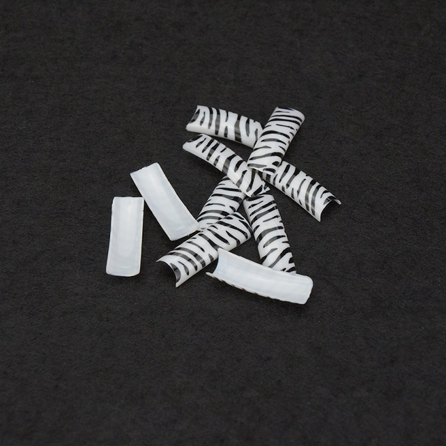 Elite99 Zebra Muster Nägel Aufkleber Tipps Leitfaden Maniküre Nail art Decals Guides DIY Mode Design Schönheit Werkzeuge 100 Stück