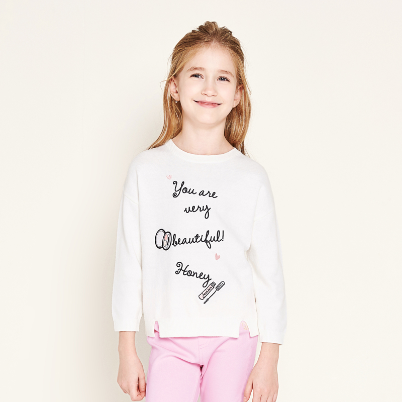 balabala Brands girls sweater clothes Children's spring cotton Long Sleeve comfortable sweater Kids casual Pullover fashion tops