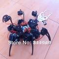 1 conjunto 20DOF Alumínio Hexapod Aranha Seis Pernas 3DOF Kit Quadro Robô + braçadeira Set Totalmente Compatível Com Arduino Varejo + Navio Livre