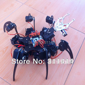 1set 20DOF Aluminium Hexapod Spider Six 3DOF Legs Robot Frame Kit + Clamp Set Fully Compatible With Arduino Retail + Free Ship