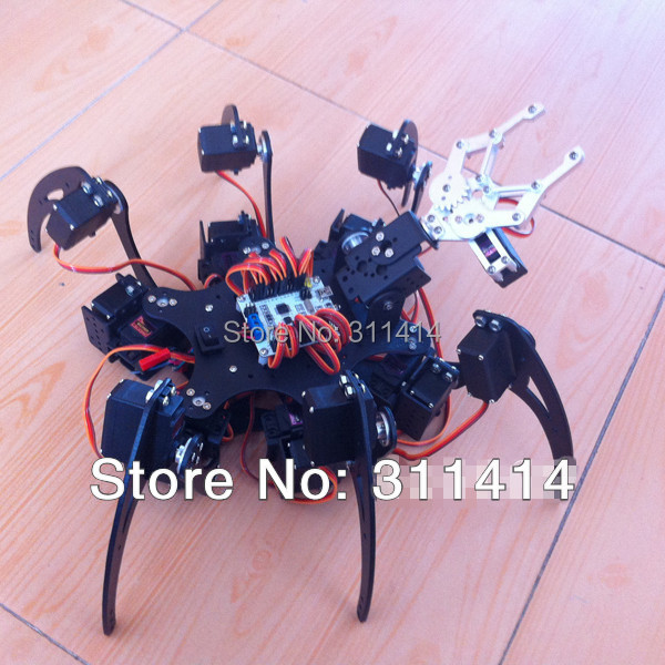 1set 20DOF Aluminium Hexapod Spider Six 3DOF Legs Robot Frame Kit + Clamp  Set Fully Compatible With Arduino Retail + Free Ship-in Action & Toy  Figures